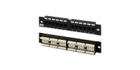 """433641 Hyperline PP2-19-12-8P8C-C6-110D Патч-панель 19"""", 1U, 12 портов RJ-45, категория 6, Dual IDC"""