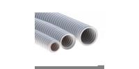 91525 Труба ПВХ гибкая гофр. д.25мм, тяжёлая с протяжкой, 50м, цвет серый