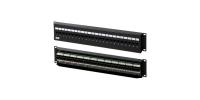 17710 Hyperline PPW-24-8P8C-C5e-FR Патч-панель настенная c передним монтажом, 24 порта RJ-45(8P8C), категория 5e
