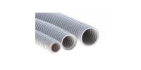 91932 Труба ПВХ гибкая гофр. д.32мм, лёгкая с протяжкой, 25м, цвет серый