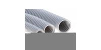 91520 Труба ПВХ гибкая гофр. д.20мм, тяжёлая с протяжкой, 100м, цвет серый