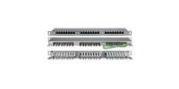 """244077 Hyperline PPHD-19-24-8P8C-C5E-SH-110D Патч-панель высокой плотности 19"""", 0.5U, 24 порта RJ-45, категория 5E, Dual IDC, экранированная"""